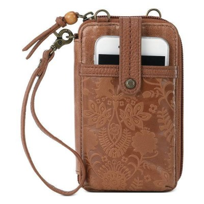 ザサック ショルダーバッグ バッグ レディース Iris North South Smartphone Crossbody Tobacco Floral Emboss/Gold