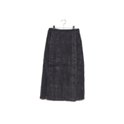 スタイルブロック STYLEBLOCK コーデュロイ釦開きタイトスカート (チャコールグレー)