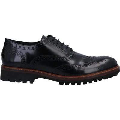 トラサルディ TRUSSARDI JEANS メンズ シューズ・靴 laced shoes Black