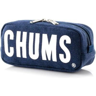 チャムス ポーチ スマホ メンズ レディース CHUMS ボートロゴ スウェット 筆箱 CH60-2712 (ヘザーネイビー, ワンサイズ)