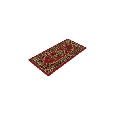 エジプト製ウィルトン織ペルシャン柄 ロングマット 536/50100RD A/レッド