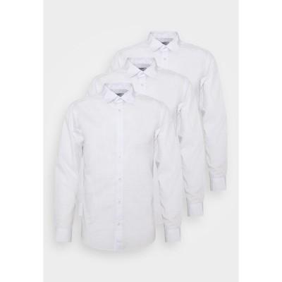 ジャック アンド ジョーンズ シャツ メンズ トップス JJJOE 3 PACK - Shirt - white