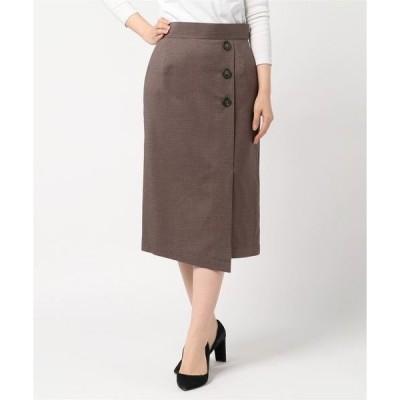 スカート Seadrake チェック柄ラップ風タイトスカート