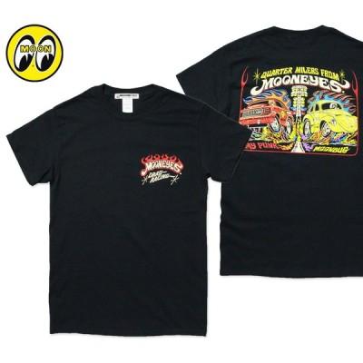 ムーンアイズ Tシャツ メンズ 半袖 アメカジ おしゃれ かっこいい VW ビートル ワーゲン シボレー アメ車 ホットロッド レーシング MOONEYES MOON Drag Racing