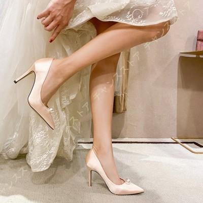 結婚式 パンプス 痛くない ピンヒール ハイヒール ポインテッドトゥ 9cmヒール レディース パンプス 歩きやすい カジュアルシューズ 美脚 春夏