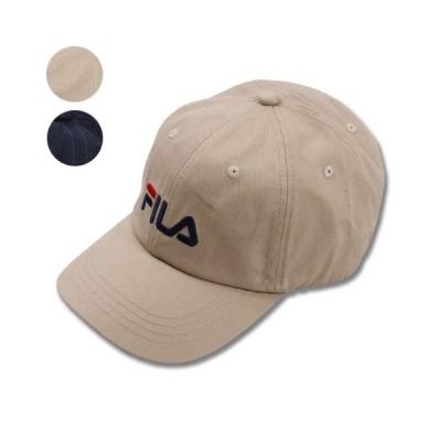 大きいサイズ メンズ   FILA LINEAR LOGO綿ツイルキャップ 4L