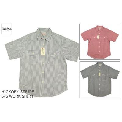 シュガーケーン SUGAR CANE ヒッコリーストライプ 半袖ワークシャツ HICKORY STRIPE S/S WORK SHIRTS SC37944