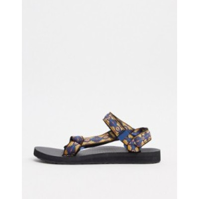 テバ レディース サンダル シューズ Teva Original Universal sandals in canyon print Canyon to canyon