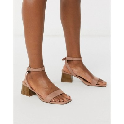 エイソス ASOS DESIGN レディース サンダル・ミュール シューズ・靴 Hocco block heeled sandals in warm pink