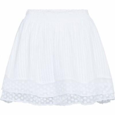 ラブシャックファンシー LOVESHACKFANCY レディース ミニスカート スカート toya cotton lace miniskirt White