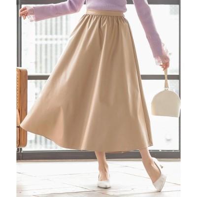 スカート エコレザーギャザースカート