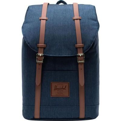 ハーシェル サプライ Herschel Supply レディース バックパック・リュック バッグ Retreat 19.5L Backpack Indigo Denim Crosshatch