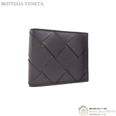 ボッテガ ヴェネタ(BOTTEGA VENETA) イントレチャート コンパクト 二つ折り 財布 札入れ 113993 ブラウン メンズ 新品