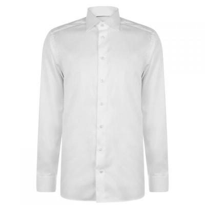 イートン Eton メンズ シャツ トップス Plain Twill Contemporary Fit Shirt White