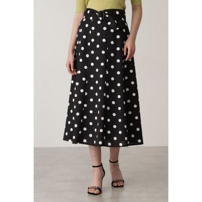 PINKY&DIANNE / ベルト付きドットプリントフレアスカート