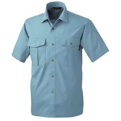 桑和(SOWA) 半袖 シャツ 208/ミストブル M〜LLサイズ 537 作業着 作業服 ワークウェア ウエア トップス メンズ