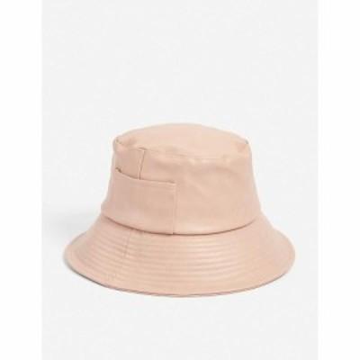 ラックオブカラー LACK OF COLOR レディース ハット バケットハット 帽子 Wave vegan-leather bucket hat PINK