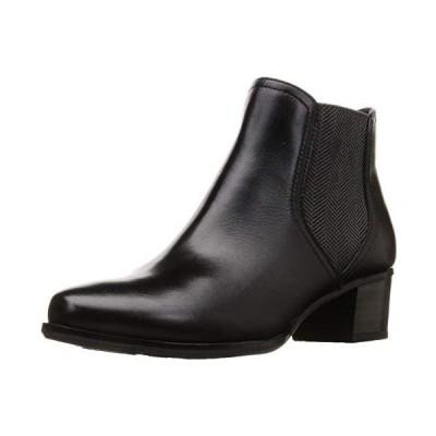 (モードカオリ)ファッションブーツ 撥水サイドゴアショートブーツ 21402 レディース (ブラック 22.5 cm)