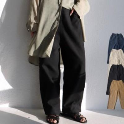 品のいいベーシック服。飽くことなきスタイリングを。テーパードパンツ・4月19日0時~再再販。メール便不可 母の日