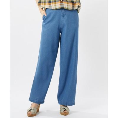 【大きいサイズ】 リヨセル混セミワイドデニムパンツ(オトナスマイル) パンツ, plus size pants
