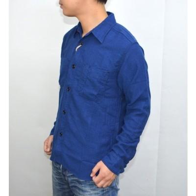 シュガーケーン SUGAR CANE SC27433 FICTION ROMANCE 4.5oz. インディゴヘリンボーンワークシャツ 長袖シャツ ネイビー色
