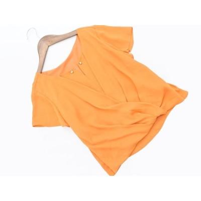 ネコポスOK クードシャンス シフォン ブラウス シャツ size34/オレンジ  ■◆ ☆ afa6