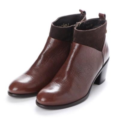 ヨーロッパコンフォートシューズ EU Comfort Shoes looky  ショートブーツ(3601-A) (ブラウン)
