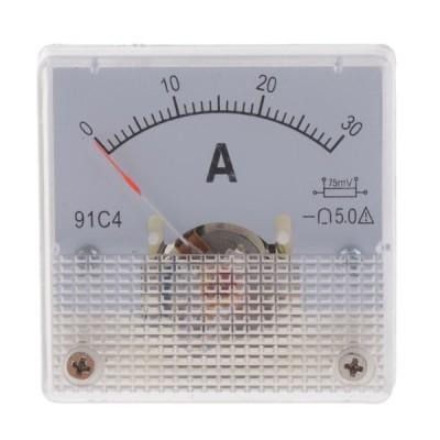 DC電流計アナログパネルメーターアンプメーター電流パネルメーター0-30A(75mV)
