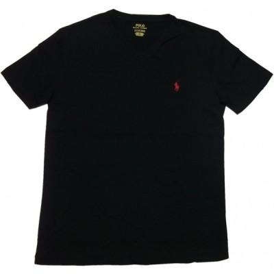 ポロ ラルフローレン 半袖 Vネック ワンポイント Tシャツ ブラック メンズ Polo Ralph Lauren 290