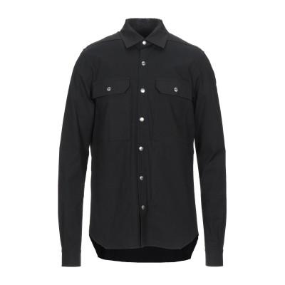 リック オウエンス RICK OWENS シャツ ブラック 46 コットン 97% / ポリウレタン 3% シャツ