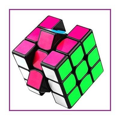 Honmofun Magic Cube Speed Cube Pocket Cube 3 Layers Cube 3x3 Cube Smooth Magic Cube Fidget Cube (Black)【並行輸入品】