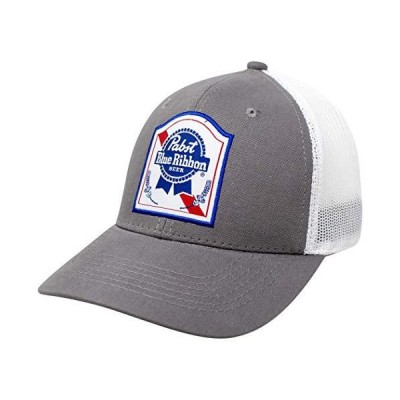 Pabst Blue Ribbon (PBR) Label Snapback Trucker Hat Grey