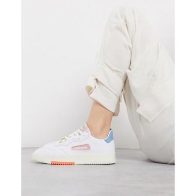 アディダス レディース スニーカー シューズ adidas Originals SC Premiere sneaker in white and pink