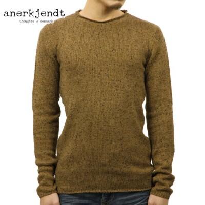 アナケット セーター メンズ 正規販売店 ANERKJENDT EGILDKO MELANGE KNIT SWEATER 9517222 COFFER LIQUEUR