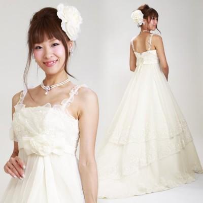 ウェディングドレス レンタル 5号-9号 エンパイヤライン ウエディングドレス ドレス 貸衣装 海外挙式 海外ウェディング リモ婚 安い 格安 6302 送料無料