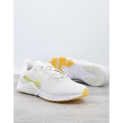 ナイキ レディース スニーカー シューズ Nike Training Legend Essential 2 sneakers in white White