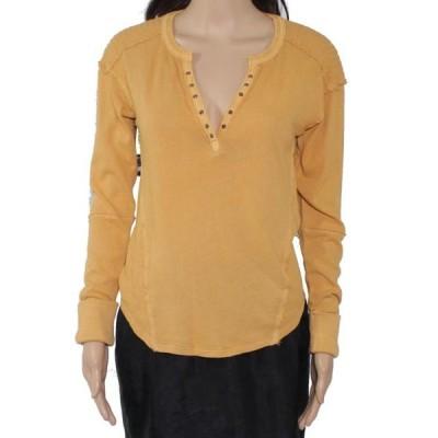 レディース 衣類 トップス Women's Top Mustard Knit Cuff Sleeve XS ブラウス&シャツ