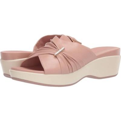 コールハーン Cole Haan レディース サンダル・ミュール スライドサンダル シューズ・靴 Aubree Grand Ruched Slide Sandal Mahogany Rose Leather/Ivory