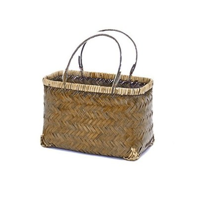 型番247 竹 市場かご 手提げバッグ 買い物かごバッグ 一閑張り材料 【かごのお店ラッセル】