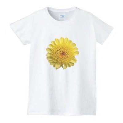 花 フラワー Tシャツ 白 レディース 女性用 jfw33