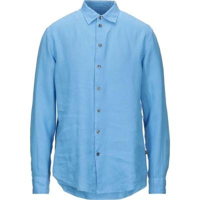 アルマーニ ARMANI COLLEZIONI メンズ シャツ トップス Linen Shirt Azure