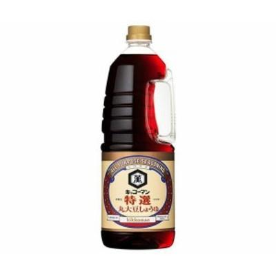送料無料 キッコーマン 特選丸大豆しょうゆ 1.8Lペットボトル×6本入