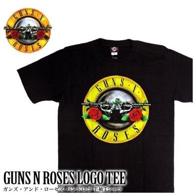 GUNS N'ROSES ガンズ・アンド・ローゼズ バンドTシャツ 半袖 BG-0016-BK BAND LOGO TEE 半袖Tシャツ(メール便対応)