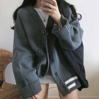 高校生中学生ファッション10代20代カーディガンニットセーターブルゾン2色7113