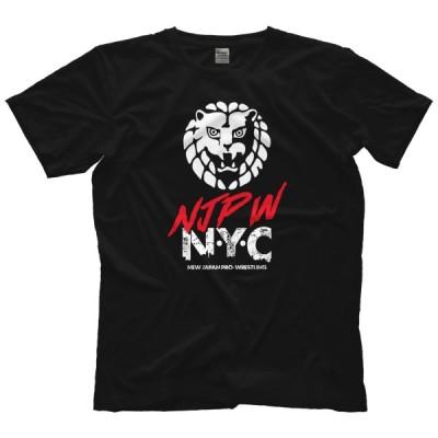 新日本プロレス 海外生産 直輸入 Tシャツ「NJPW Lion Mark ライオンマーク NYC  闘いのワンダーランド Tシャツ(バックプリントあり)」アメリカ直輸入Tシャツ