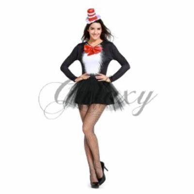ハロウィン マジック マジシャン 手品師 猛獣使い 黒猫 ネコ ワンピース 仮装 イベント コスプレ衣装 ps3390