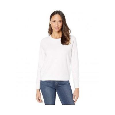Alternative オルタネイティブ レディース 女性用 ファッション パーカー スウェット Cotton Modal Interlock Pullover Crew Neck Sweatshirt - White