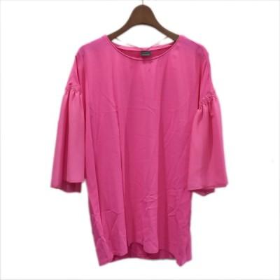 PINKO フレアスリーブプルイオーバーブラウス ピンク サイズ:42 (堀江店) 210203