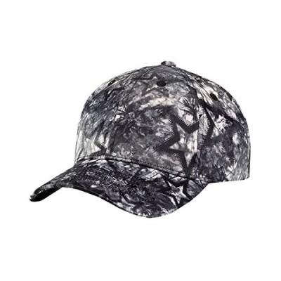 BUZZxSELECTION(バズ セレクション) キャップ 帽子 おしゃれ グラフィック ペイント スター 星 黒 (01 ブラック サイズ)