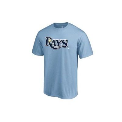 野球 MLB ファナティクス Fanatics Branded Tampa Bay Rays Light Blue Team Wordmark T-Shirt